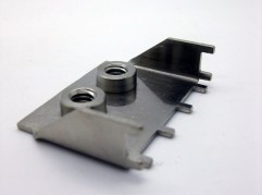 Zinc plated electronic connector