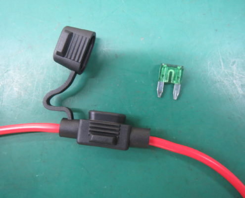 water-resistant fuse with electric cable