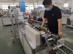 on site quality control of manufacturing line of face masks